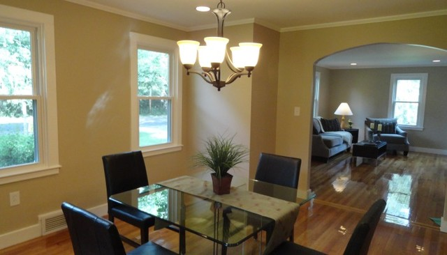 Hampton nh vacant staging traditional dining room for La z boy dining room tables