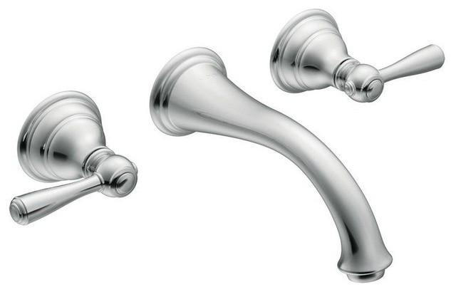 Moen Kingsley Wall Mounted Bathroom Faucet - Traditional - Bathroom ...