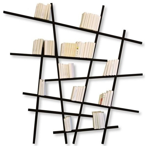 mikado bookshelves black contemporary bookcases - Storyline Bookshelf