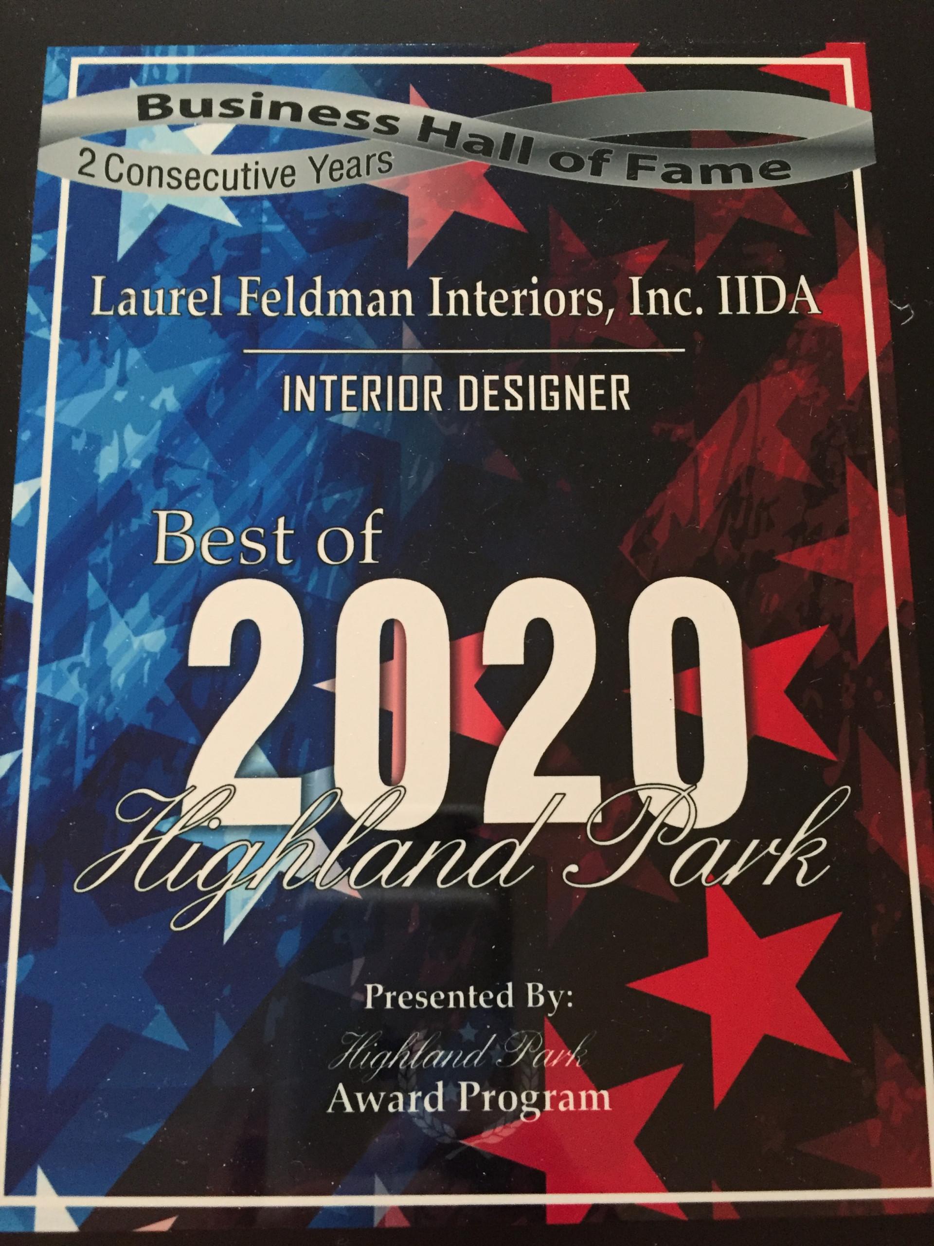 BEST OF 2020 HIGHLAND PARK INTERIOR DESIGNER