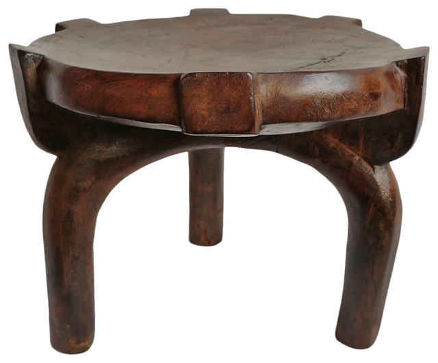 Outstanding Consigned Tanzania Wood Stool Caraccident5 Cool Chair Designs And Ideas Caraccident5Info