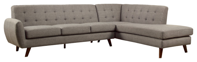 Belterra Dorris Fabric Sectional Sofa, Gray by