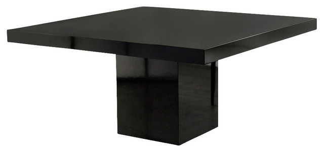 Beech Dining Table Black Lacquer Gl