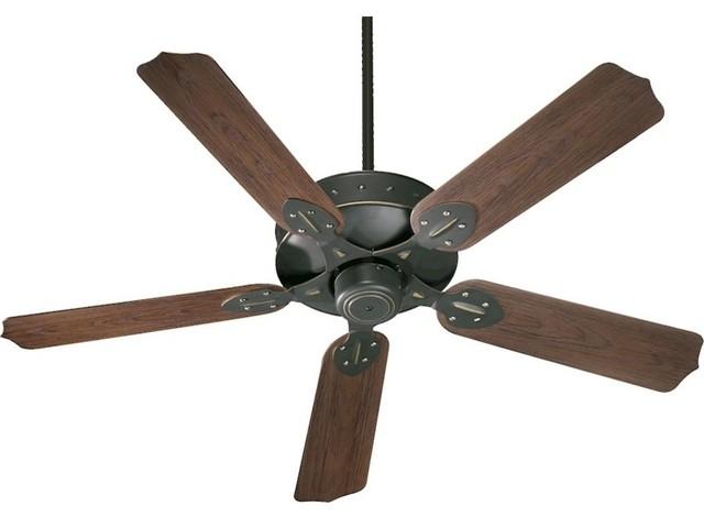 Quorum Hudson Ceiling Fan, Old World.