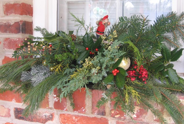 Outdoor Christmas Window Swags.Outdoor Window Holiday Swag Eclectic Philadelphia By