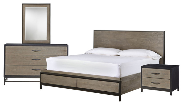 Universal Furniture Curated Spencer Storage Bedroom Set, 2-Tone, Queen