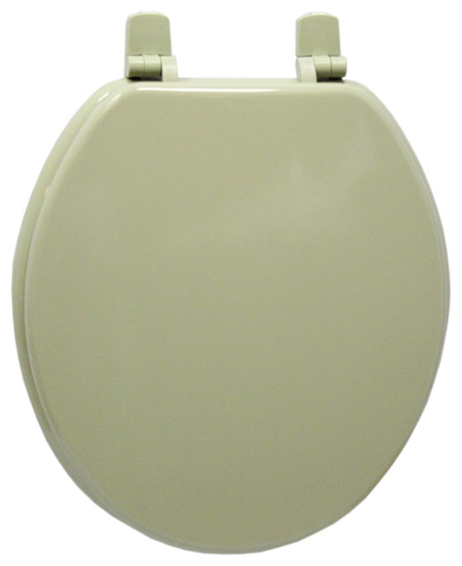 Trimmer Wood Toilet Seat Olive Green Traditional Toilet Seats