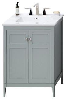 "Ronbow Briella Solid Wood 24"" Vanity Set With Ceramic Sink Top"