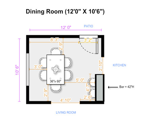What size dining table - How much room do i need for a pool table ...