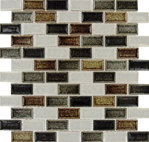 Beaches Blend Mosaic Tile, Sandy, 50 Sq. ft., 1x2x8mm