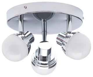 Litecraft Hugo 1 Light Bathroom Adjustable Ceiling Single Spotlight in Chrome