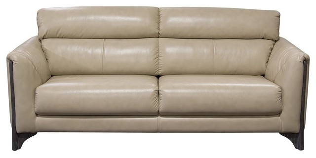 Diamond Sofa Monaco Blended Leather With Ash Wood Trim And Leg Tan