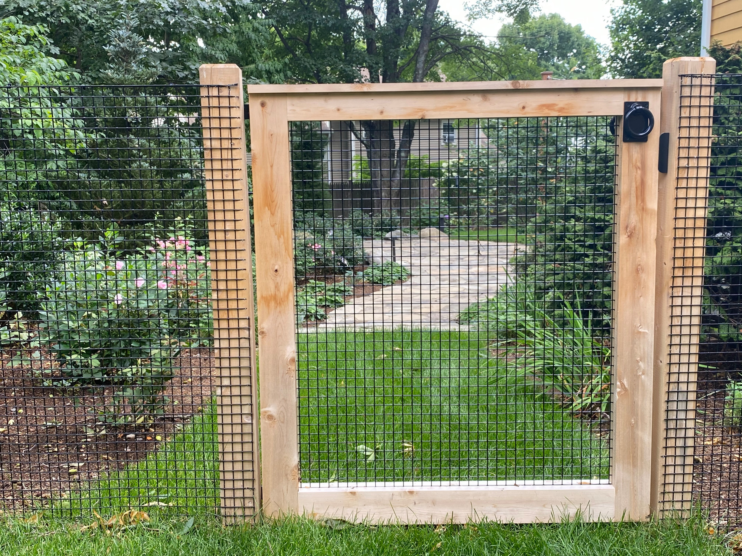 wood and wire gate