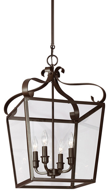 Rustic Foyer Pendant Lighting : Lockheart light foyer pendants in heirloom bronze
