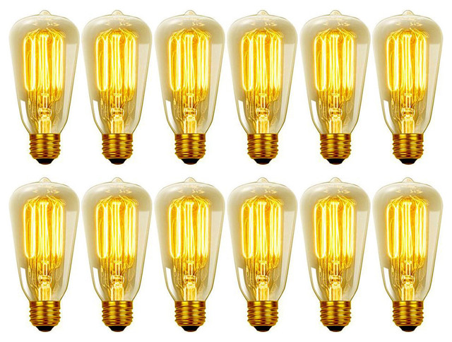 317b5fc380e 60W Vintage Edison S60 Squirrel Cage Incandescent Light Bulb (12-Pack) -  Traditional - Incandescent Bulbs - by Globe Electric