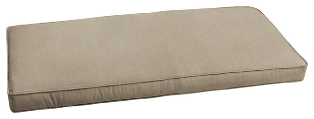 Sunbrella Canvas Taupe Indoor Outdoor Bench Cushion 60x19 Transitional Outdoor Cushions And Pillows By Mozaic Company Houzz