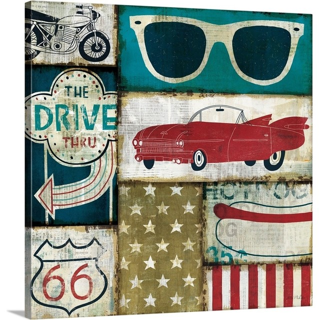 American Pop Ii Wrapped Canvas Art Print Contemporary Prints And Posters By Great Big Canvas