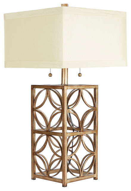 The Arden Two-Pull Table Lamp With Shade.