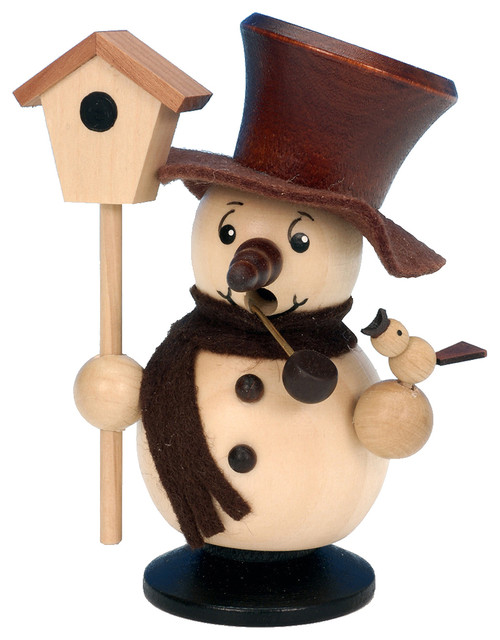Christian Ulbricht Incense Burner, Snowman With Birdhouse (natural).