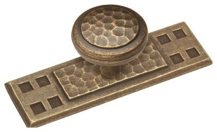 """Belwith Hickory Hardware - 3-1/2"""" Arts & Crafts Backplate - Windover Antique - View in Your Room ..."""