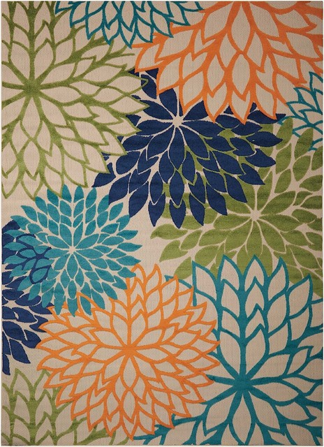 Country And Floral Aloha, Area Rug, Rectangle, Multicolor, 7&x27;10x10&x27;6.