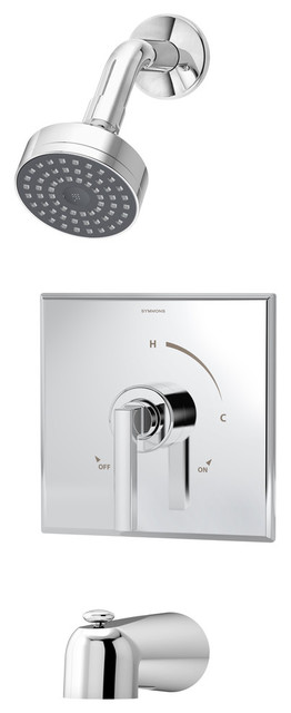 Duro Single Handle Tub and Shower Faucet Trim, Chrome by Symmons