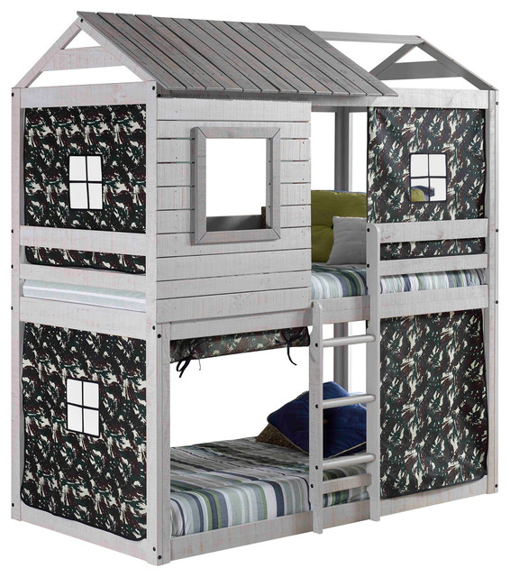 Donco Kids Deer Blind Kid S Bunk Bed Green Camo