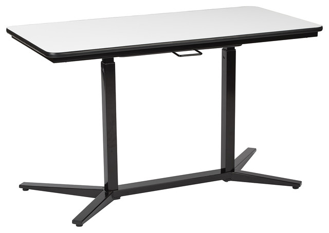 Office Star Pro Line II Pneumatic Height Adjustable Table, Black