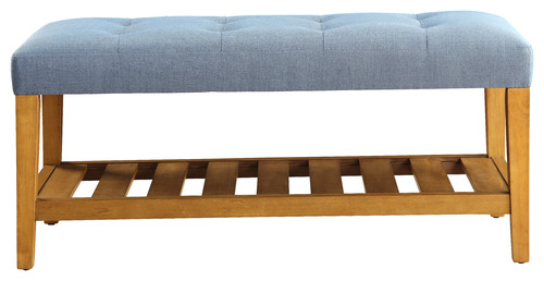Charla Bench With Blue And Oak Finish 96684