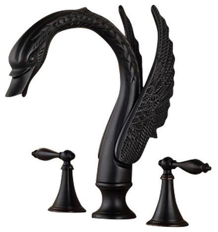 Fontana Oil Rubbed Bronze Dual Handle Swan Faucet
