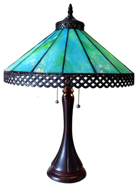 Mila Tiffany Style 2 Light Table Lamp