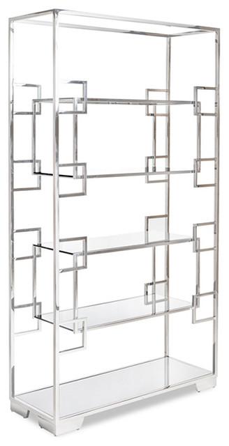 Jasmin Bookcase, Clear Glass