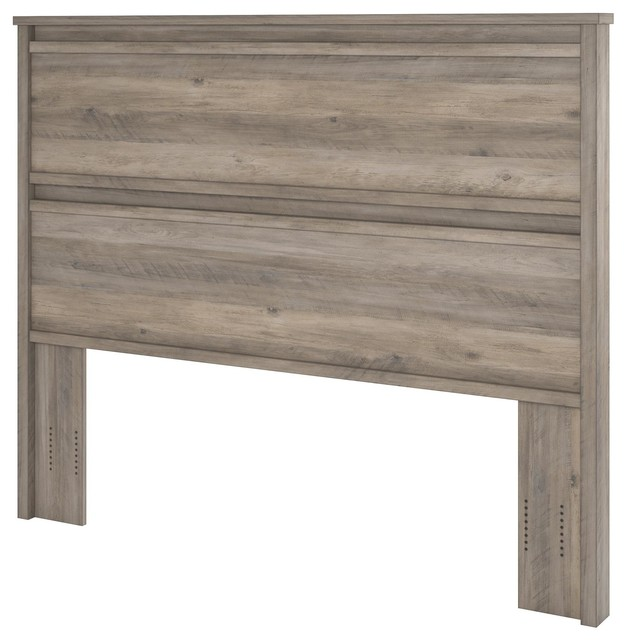 Gable Crest Queen Headboard, Gray Oak.