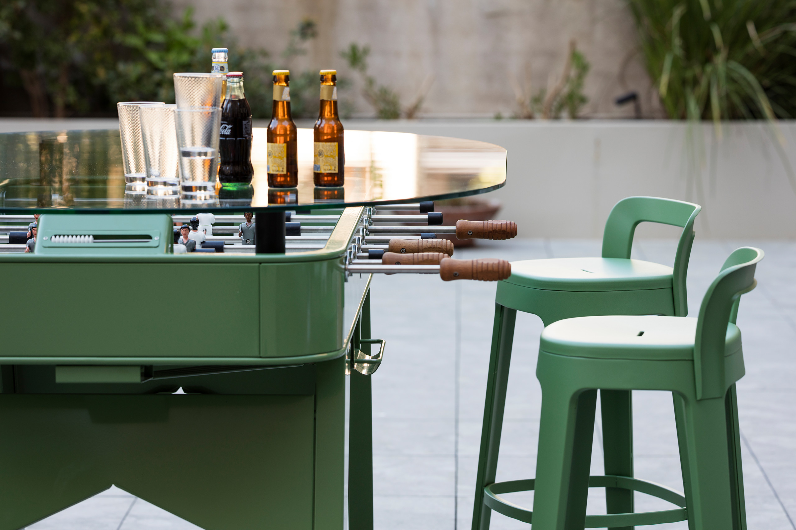 RS Outdoor Foosball Table with Integrated Dining Top