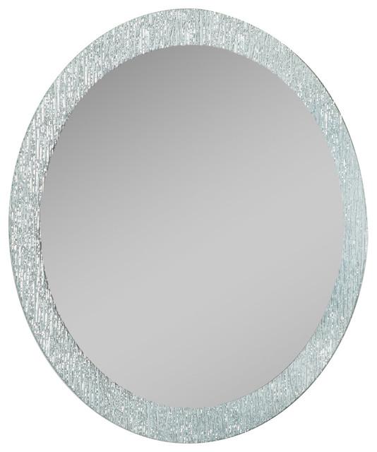 Decor Wonderland Molten Bathroom Mirror Round Bathroom