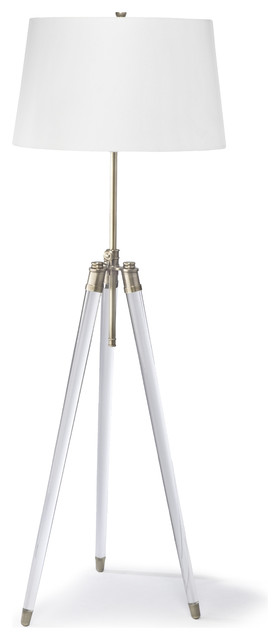 Hubble modern classic acrylic tripod brushed nickel floor lamp hubble modern classic acrylic tripod brass floor lamp modern floor lamps aloadofball Image collections