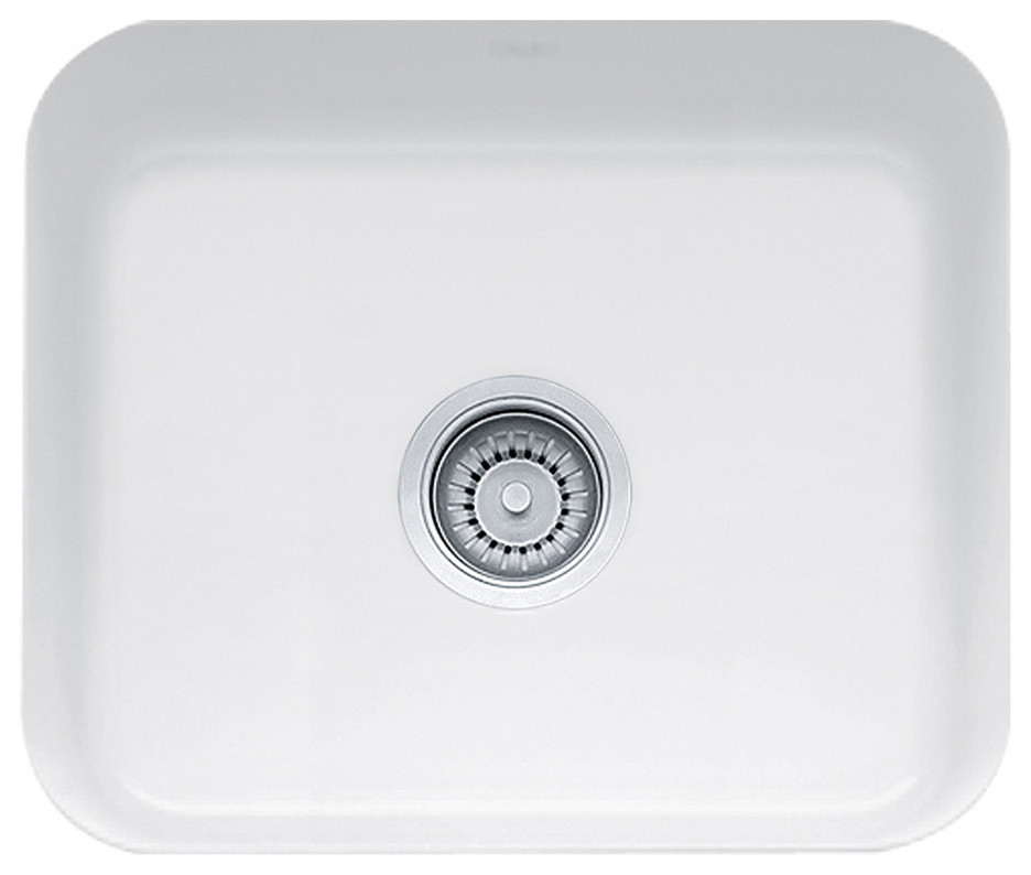 Franke Cisterna Undermount Farmhouse Fireclay Kitchen Sink White Cck110 19wh Contemporary Kitchen Sinks By Kitchen And Bath Distributor