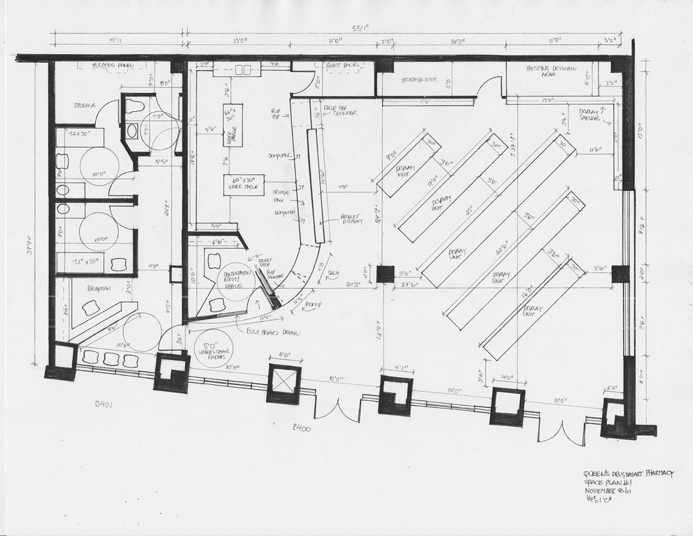commercial space plan- pharmacy after
