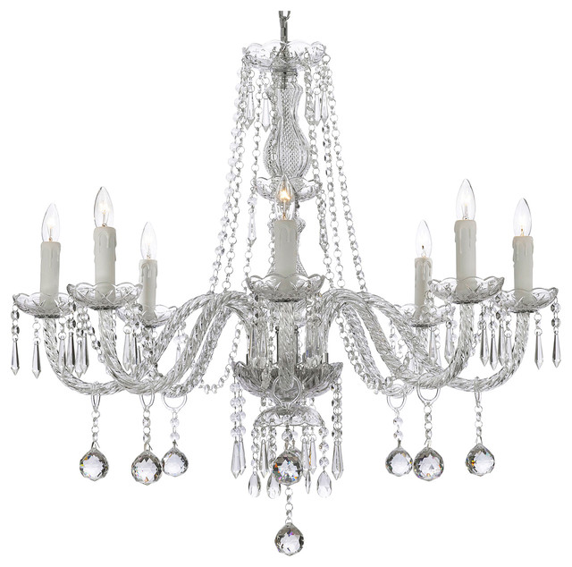 8 light crystal ball chandelier 28x28 traditional chandeliers 8 light crystal ball chandelier aloadofball Images