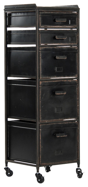 ... Drawer Wheeled Cabinet - Industrial - Filing Cabinets - by Kathy Kuo