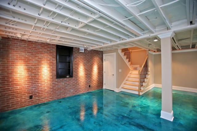 Basement House Designs. Lake House contemporary basement  Contemporary Basement Nashville by JAC Design