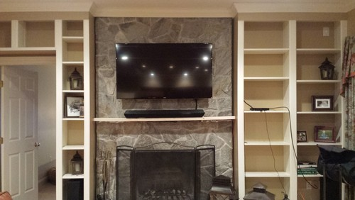 Need ideas for remodeling asymmetrical built-ins!