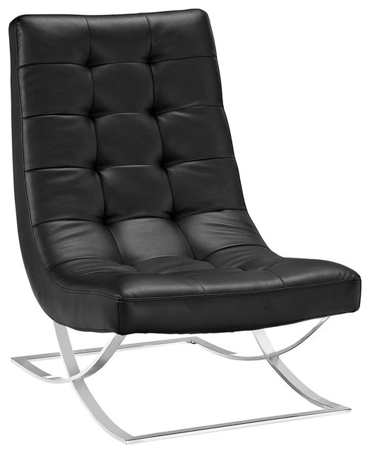 Slope Lounge Chair, Black.