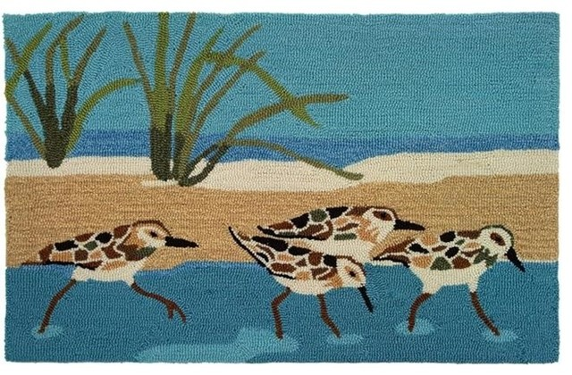 Home Fires Py Bt001 22 X34 Accents Oceanside Sandpipers Indoor Rug Beach Style Area Rugs By Unbeatable Inc