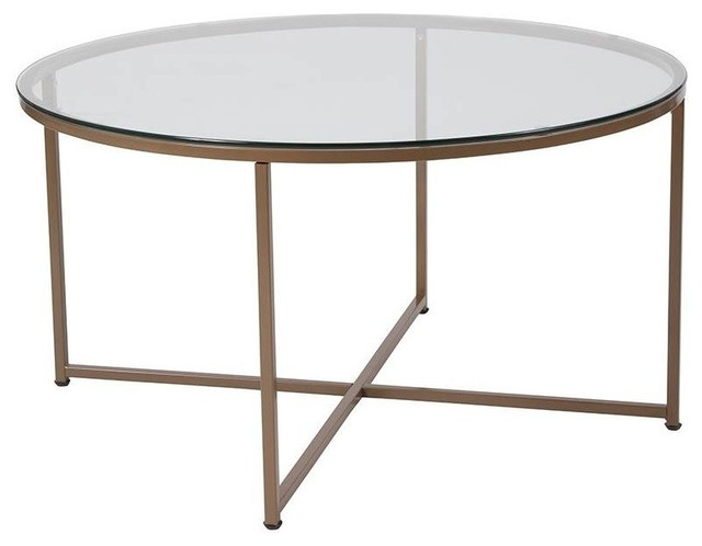 Round Glass Coffee Table.