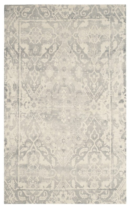 Safavieh Restoration Vintage RVT532B Rug, Light Gray/Ivory, 3'x5'