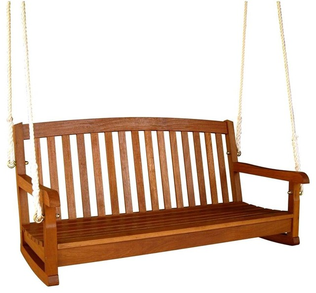 Balau Hanging Porch Swing, 3-Seater.