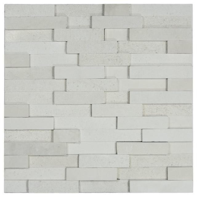 12 X12 White Brick Stone Tile