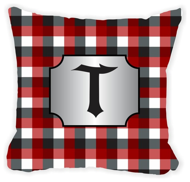 Black Microfiber Throw Pillows : Rikki Knight LLC - Letter
