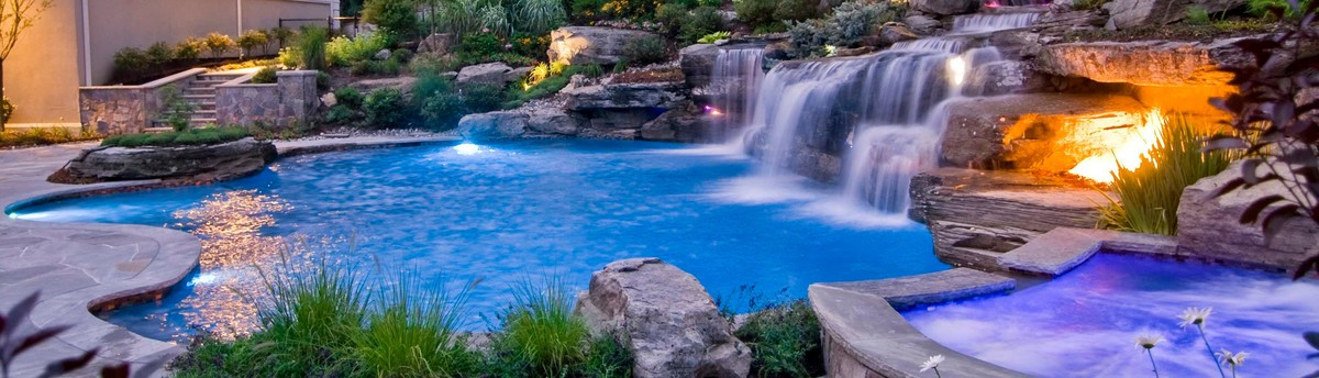 backyard swimming pool waterfall design bergen county nj - Swimming Pools With Waterfalls